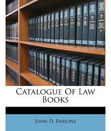 Catalogue Of Law Books