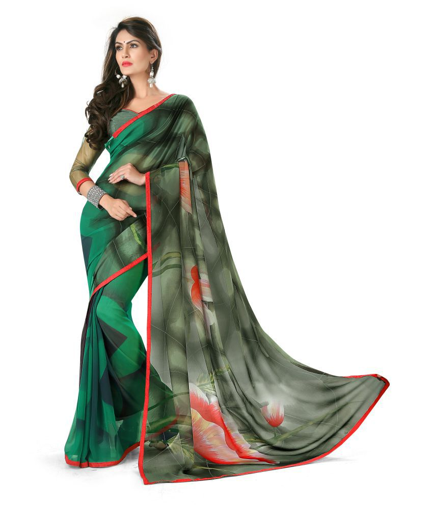 Jay Enterprise Multicoloured Georgette Saree