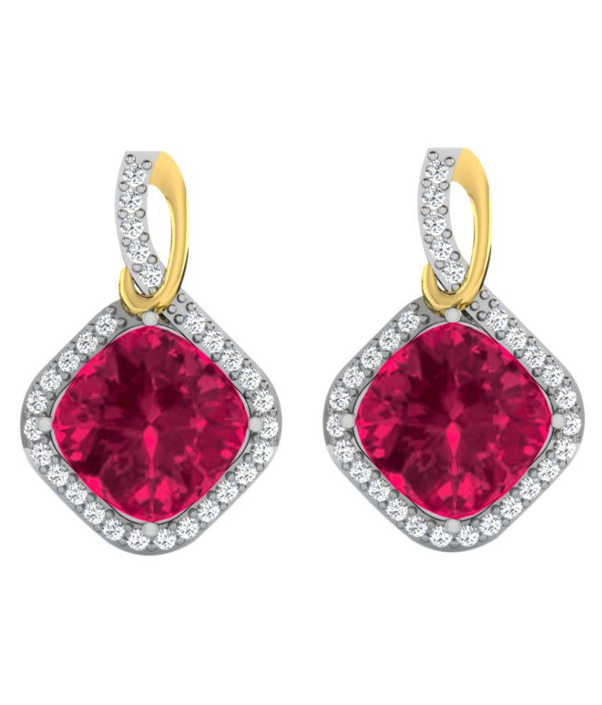 His & Her 9k Yellow Gold Ruby Drop Earrings