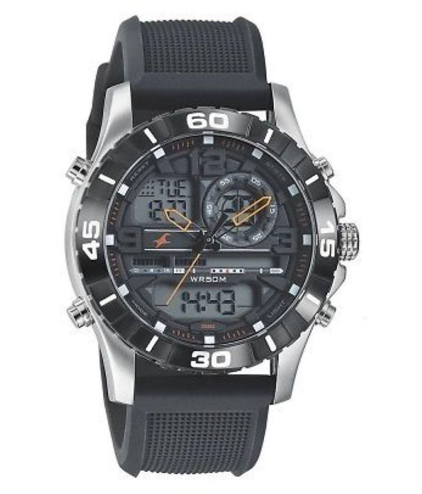 e9c714d7ebf Fastrack 38035SP03 - DG652 Black Strap Analog-Digital Watch - For Men - Buy  Fastrack 38035SP03 - DG652 Black Strap Analog-Digital Watch - For Men  Online at ...