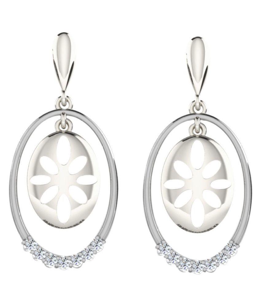 His & Her 92.5 Silver Diamond Drop Earrings