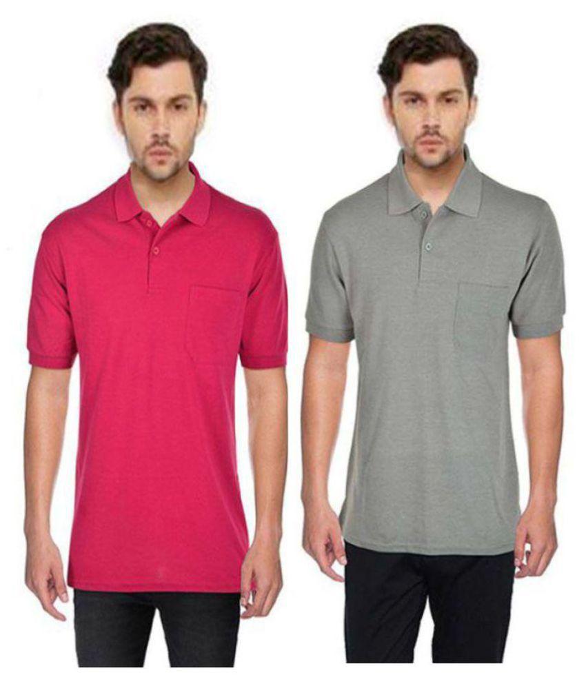 Japroz Multi Henley T-Shirt Pack of 2