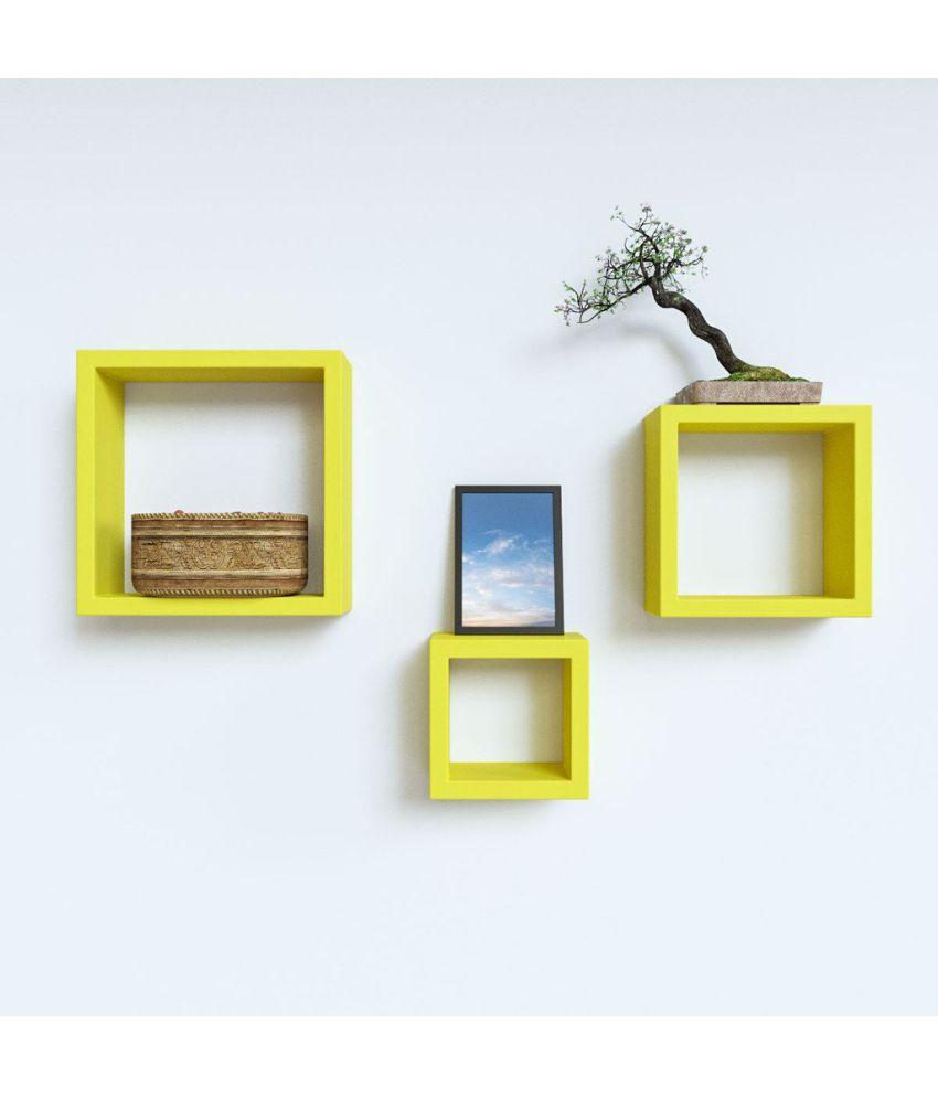 Royals Floating Shelf/ Wall Shelf / Storage Shelf/ Decoration Shelf Yellow - Pack of 1