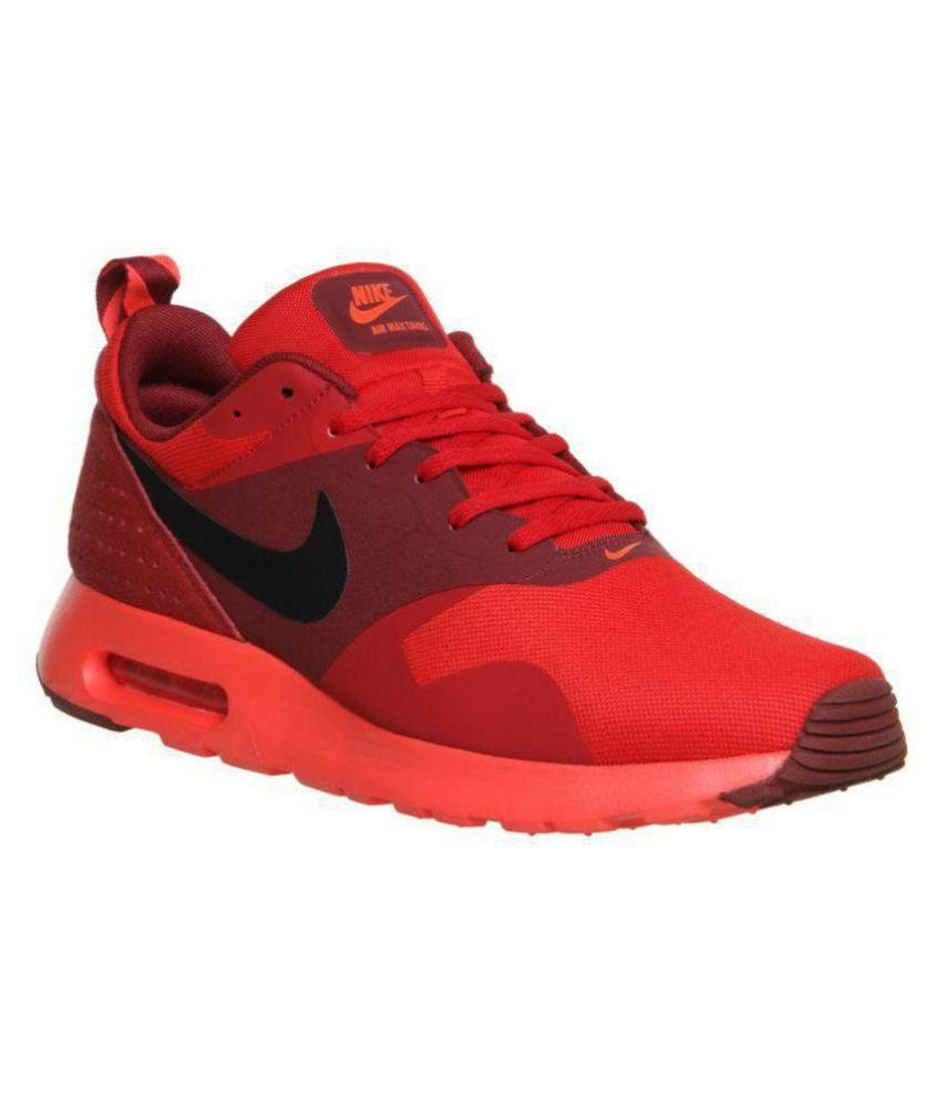 9a8dad2c5d73b Nike Air Max Tavas Red Running Shoes - Buy Nike Air Max Tavas Red Running  Shoes Online at Best Prices in India on Snapdeal