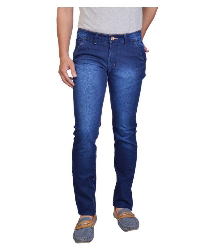 ROYAL SHEPHERD Indigo Blue Regular Fit Jeans