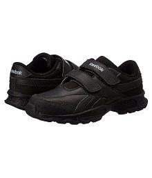 Reebok Boy's Racer KC LP School Black velcro School shoes  Sports Shoes