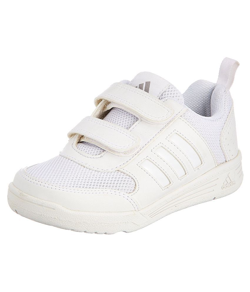 Adidas Boy's Flo K School White Velcro School Shoes ...