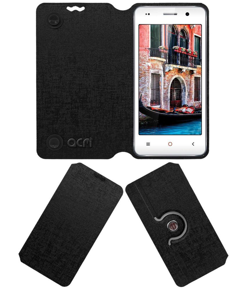 Iball Andi 4.5c Magnifico Flip Cover by ACM - Black