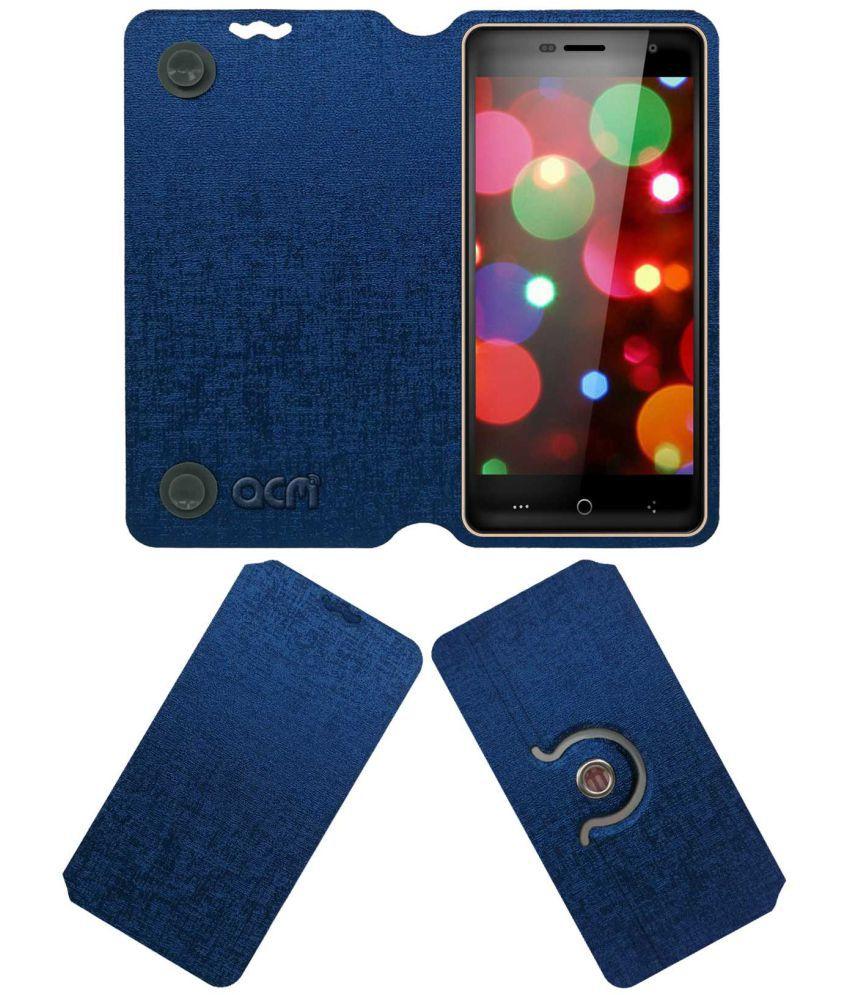 Celkon UFeel 4G Flip Cover by ACM - Blue