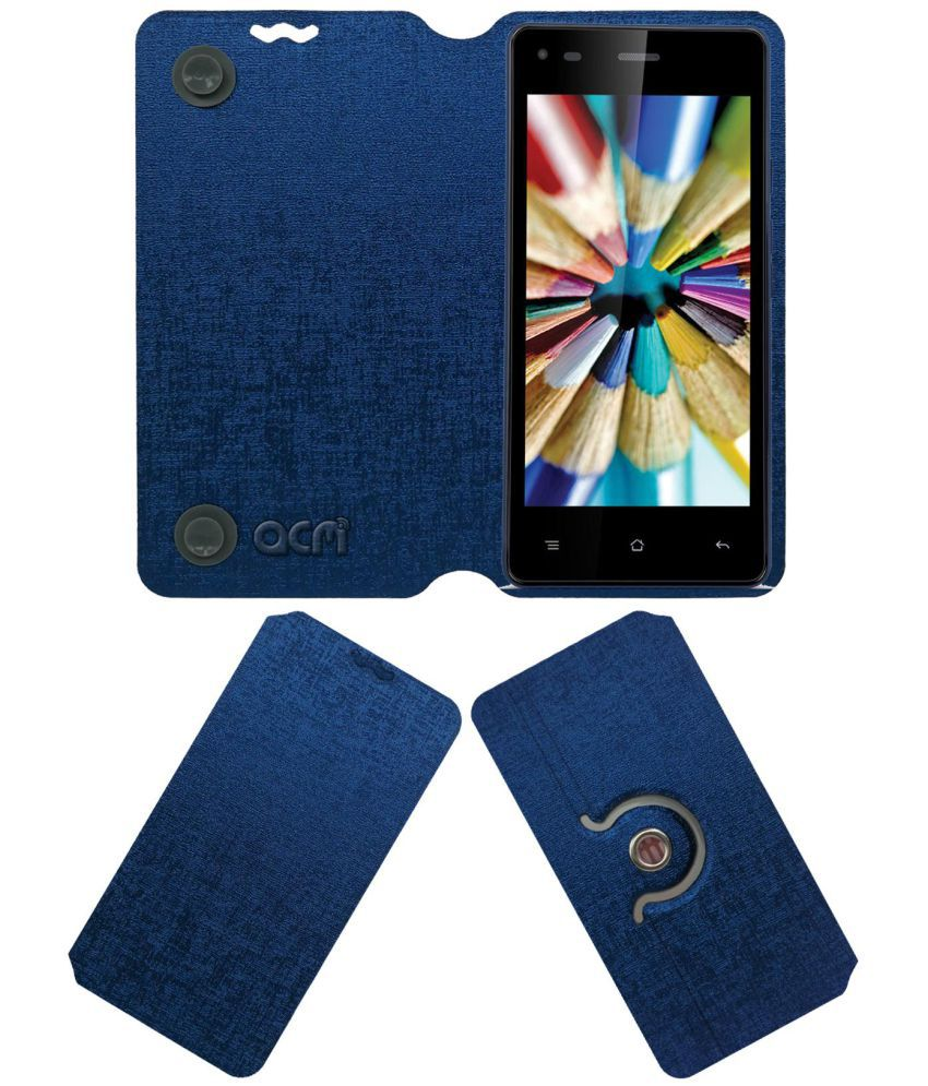 Iball Andi 4.5v Baby Panther Flip Cover by ACM - Blue