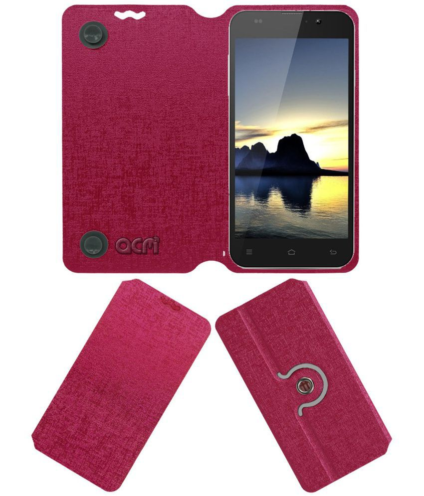 Zopo Zp980 Flip Cover by ACM - Pink