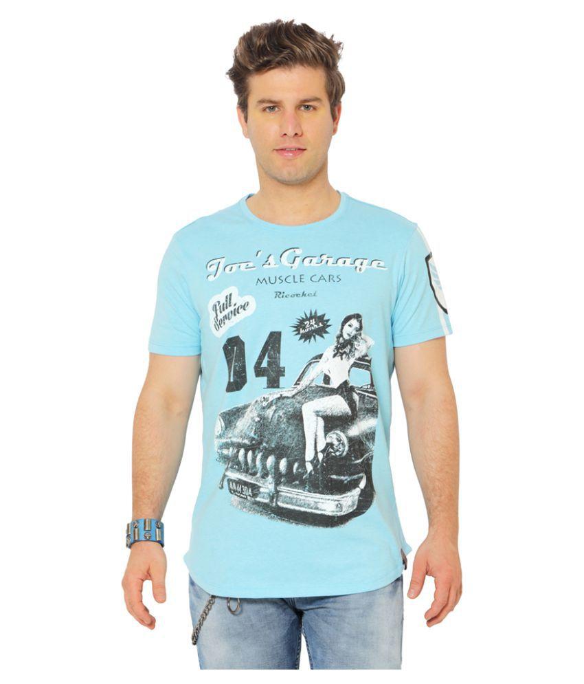 Ricochet Blue Round T-Shirt