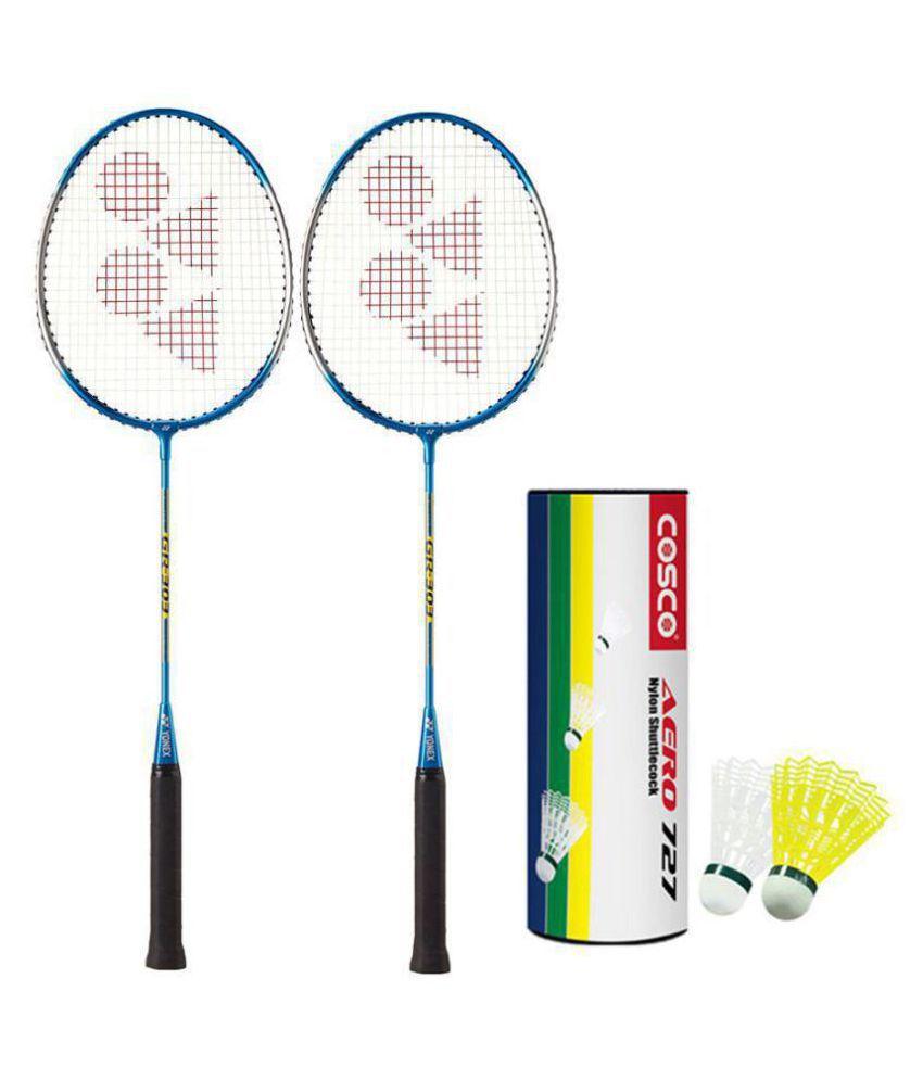 Yonex GR 303 Badminton Racket Assorted 6 Shuttle ...