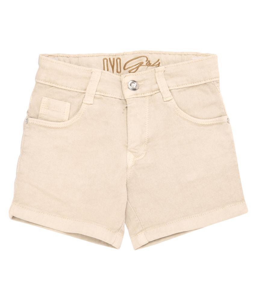 OVO Girls Cream Denim Relaxed Shorts