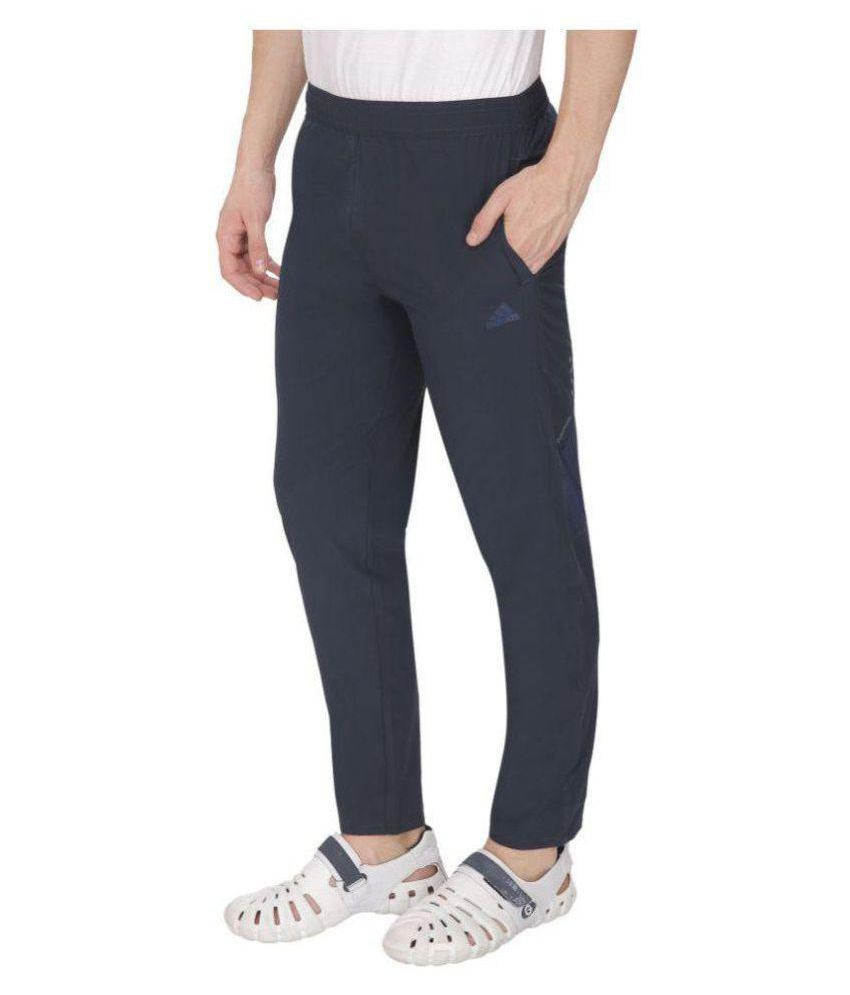 Alini Black Polyester TrackPant (With Signature of Adidas)