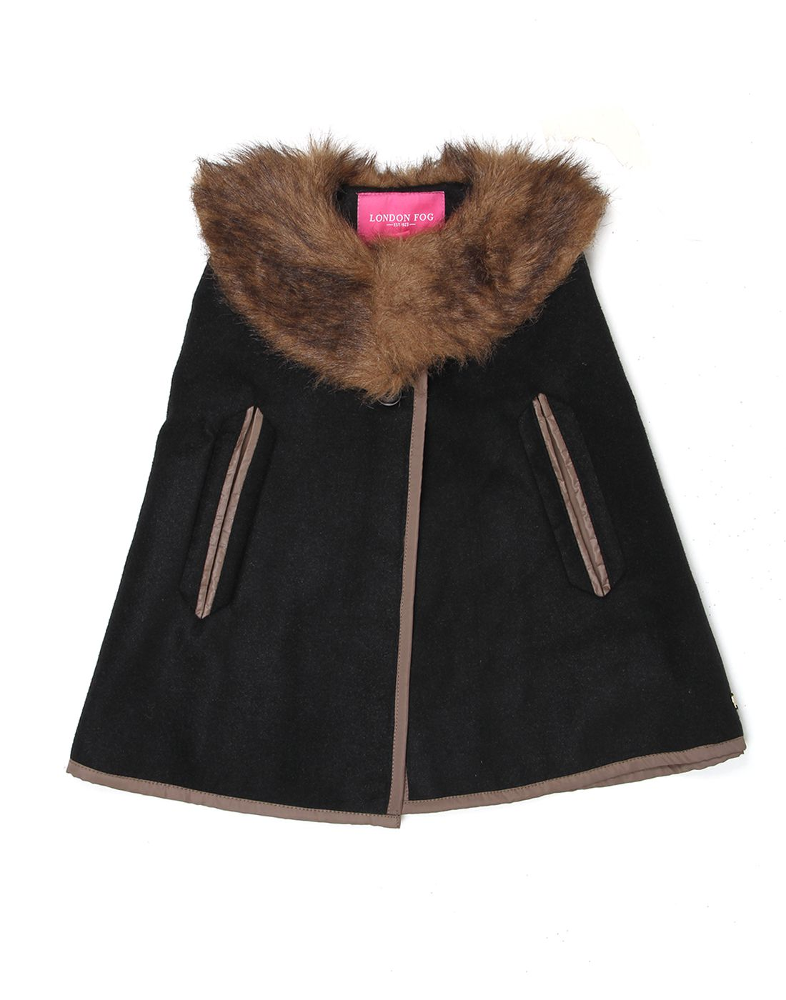 London Fog Girls Black Sleeveless Jacket