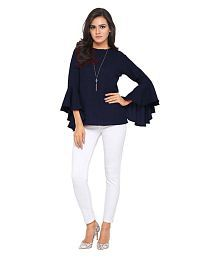 Urbane Woman Crepe Tunics - Navy