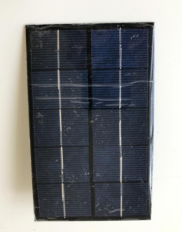 Wowobjects 2w 5v Solar Cell Panel With Usb ,solar Charger For Cell Phone ,mini Pump ,motor .battery Ect. Freeshipping
