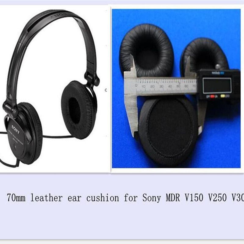 f80a482783e WowObjects 1 pair MDR V150 headphone Leather Ear Earpads Cushions 70mm  diameter for Sony MDR-V150 V250 V300 - Buy WowObjects 1 pair MDR V150  headphone ...