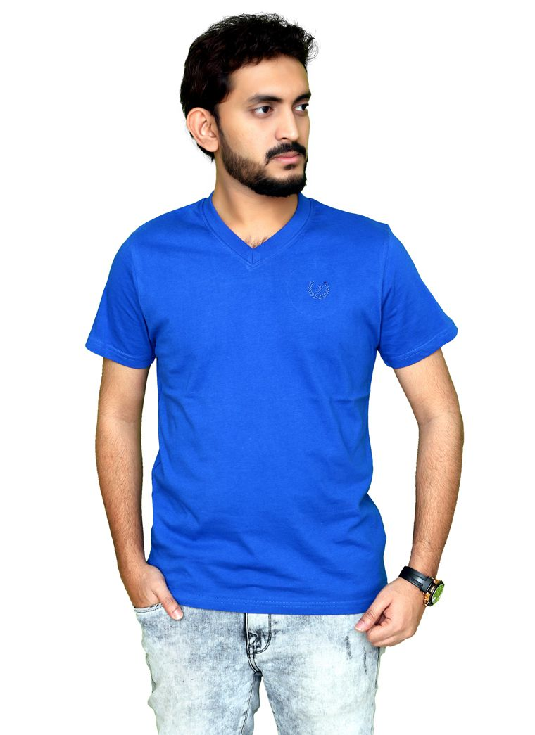 PLANET 69 Blue V-Neck T-Shirt