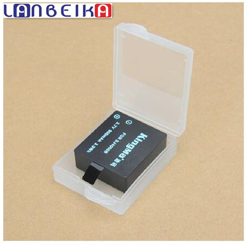 Wowobjects For Plastic Camera Battery Moistureproof Case Storage Box Cover For 5 4 4s 3+ Sj5000 Sj4000 Sj6 Sj7