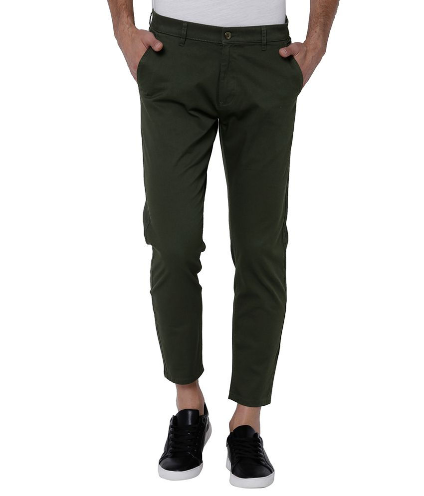 Highlander Green Tapered -Fit Flat Chinos