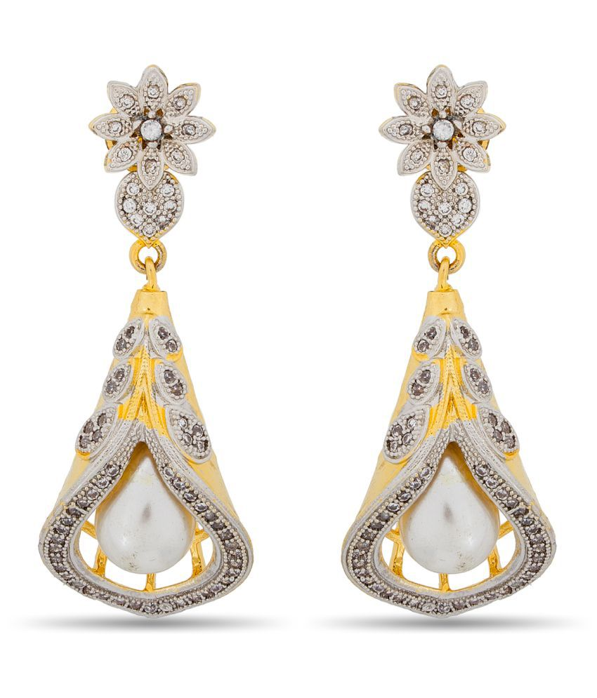 The Luxor Gold and Silver Plated Dangle and Drop Earrings for Women and Girls