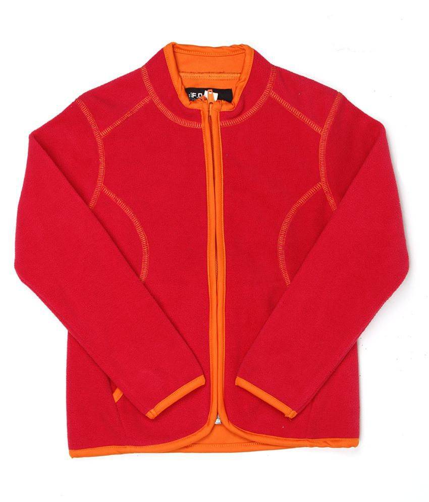 London Fog Girls Orange Full Sleeve Sweat Shirt