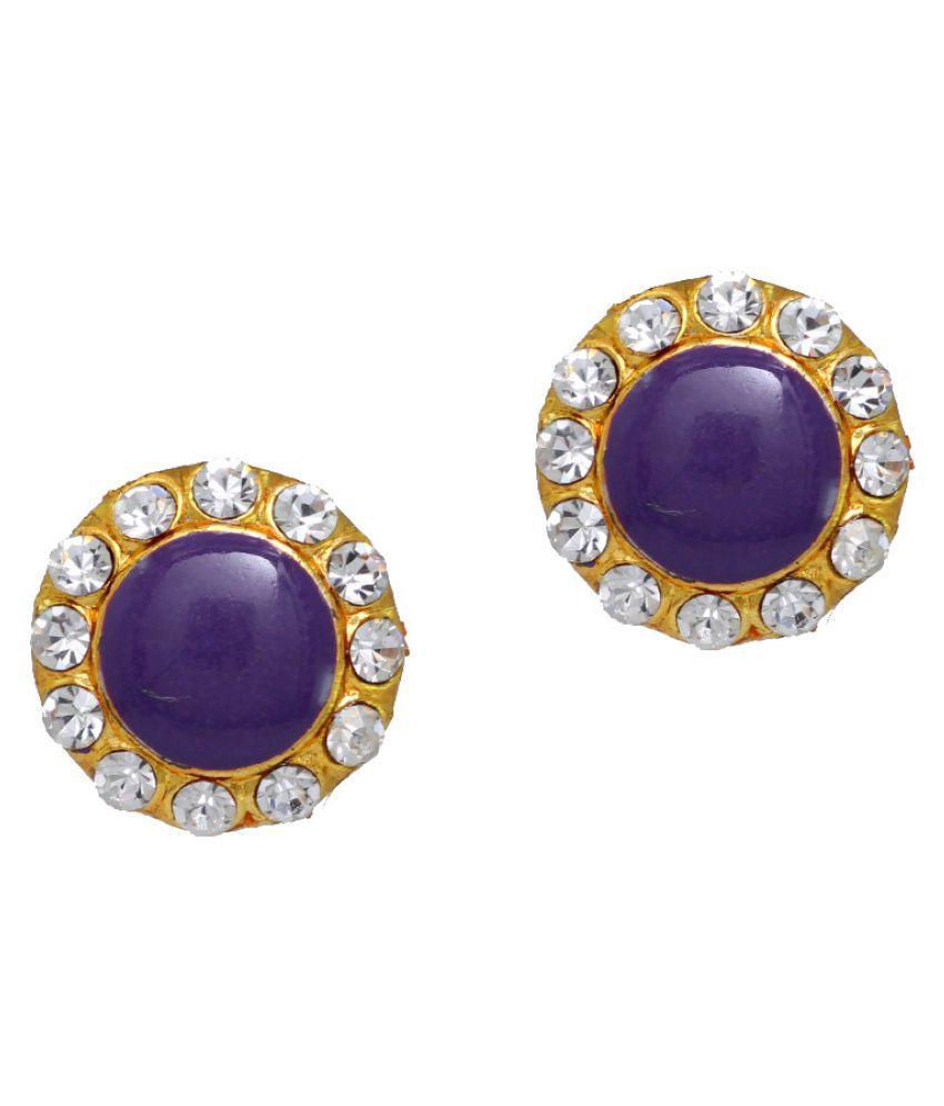 Purple Colour Stud Girls Fashion Earrings