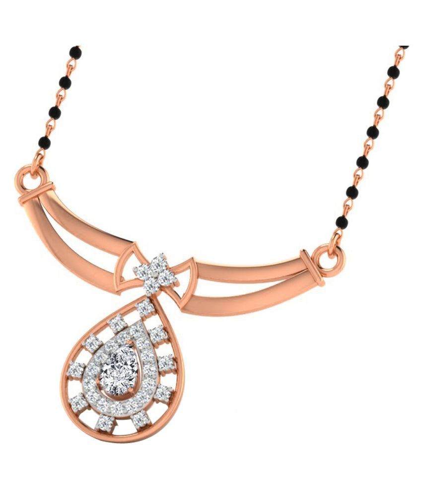 His & Her 18k Rose Gold Sapphire Mangalsutra