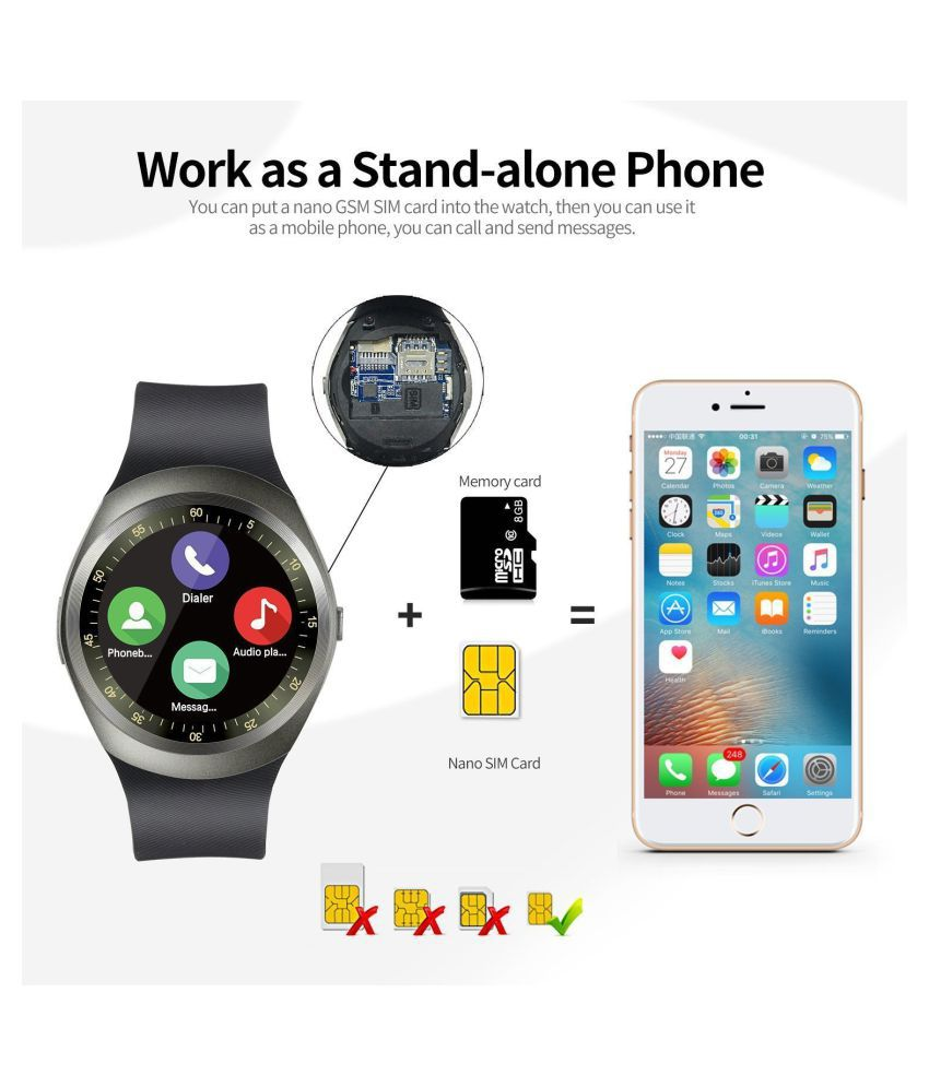 Lionix Y1 Bluetooth Smartwatch With Sim Tf Card Support Smart Watch Watches
