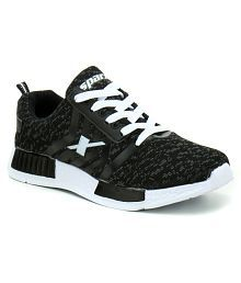 Sparx Black Running Shoes