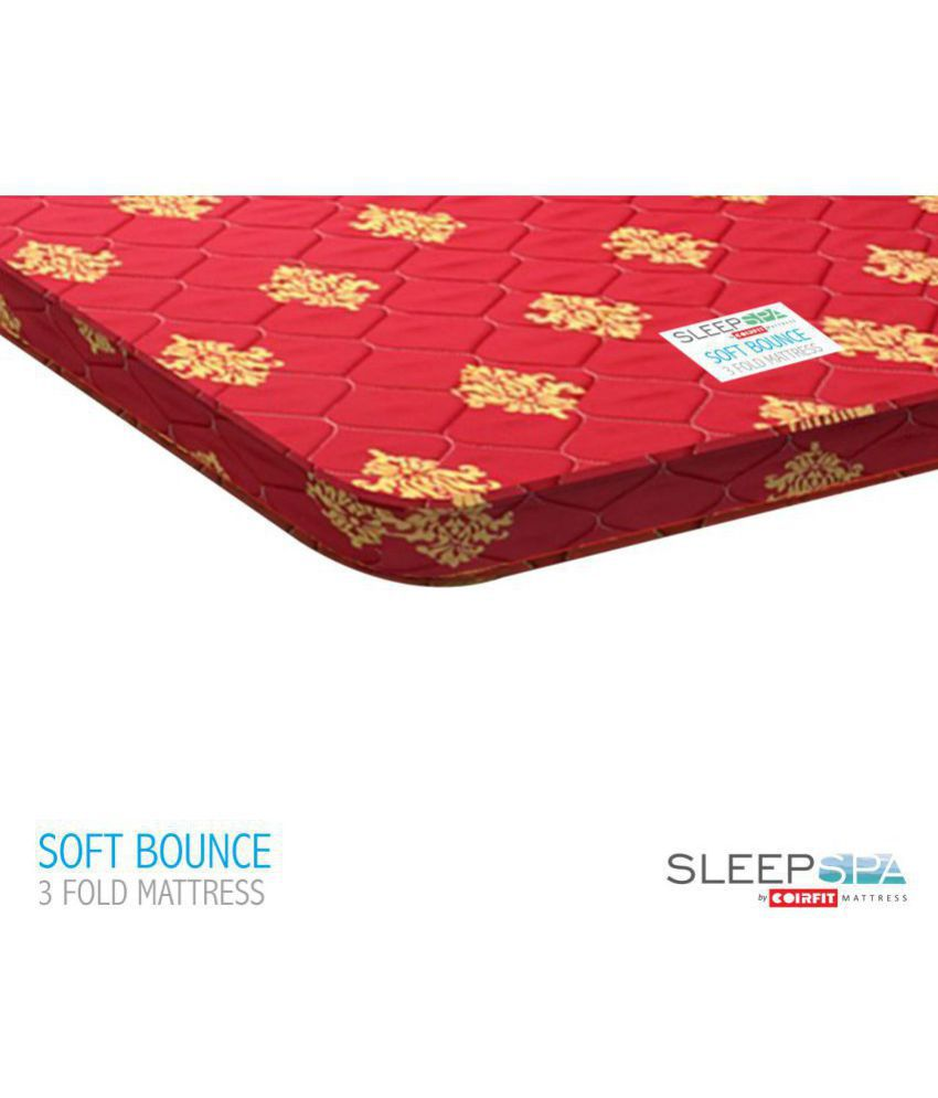 sleep spa soft bounce three fold premium orthopedic 4 foam mattress