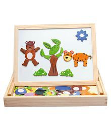 Tickles Wooden Animal Magnetic Drawing Board Puzzle Painting Blackboard Learning & Education Toys