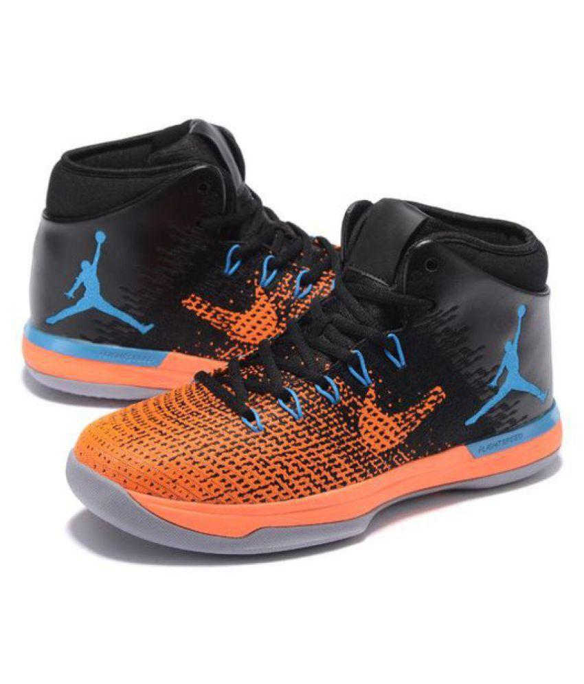 nike air jordan xxxi black orange multi color basketball
