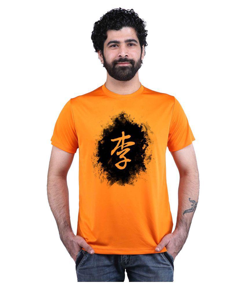 Snoby Orange Round T-Shirt Pack of 1