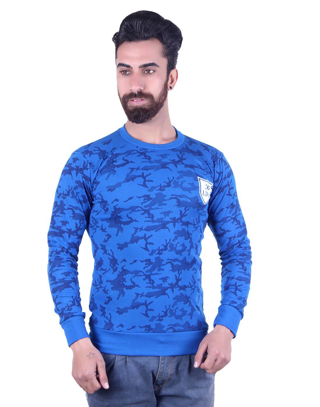 B-Life Blue Round T-Shirt Pack of 1