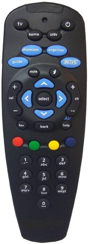 LipiWorld Tata Sky Remote Controller DTH Remote Compatible with Tata Sky Remote Setup Box