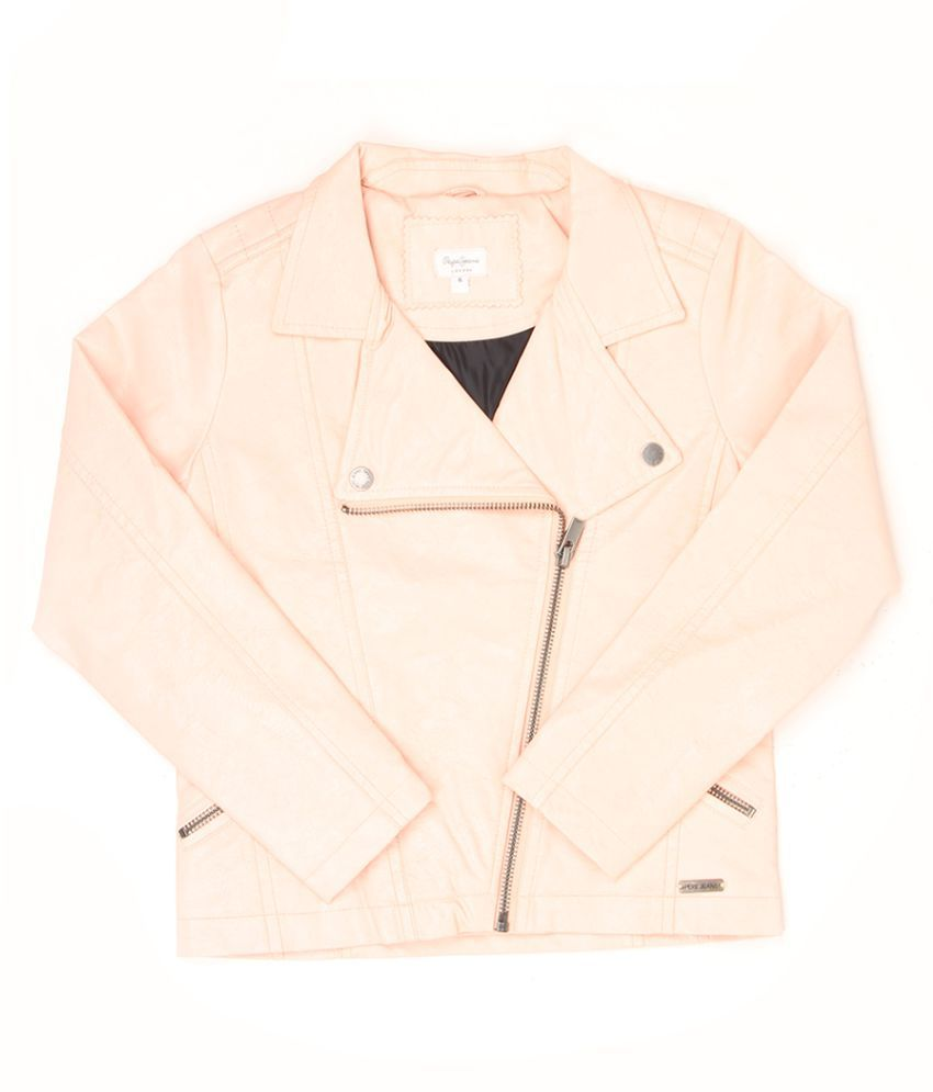 Pepe Jeans Girls Pink Solid Jacket