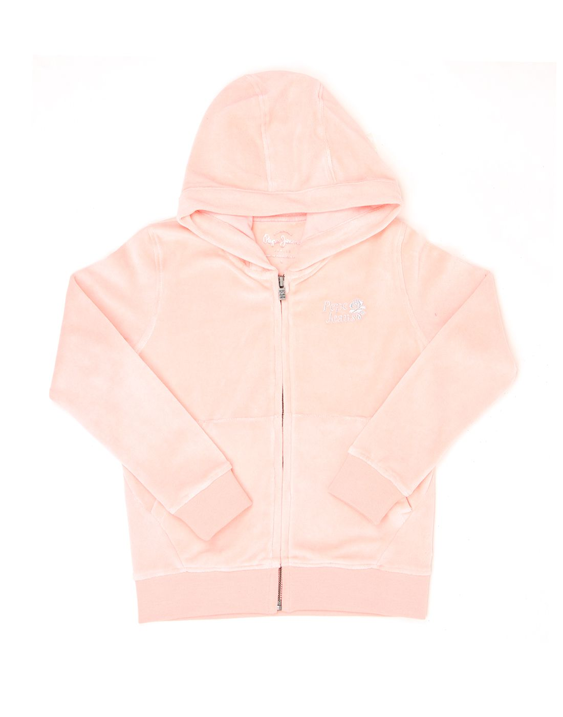 Pepe Jeans Girls Pink Solid Sweat Shirt