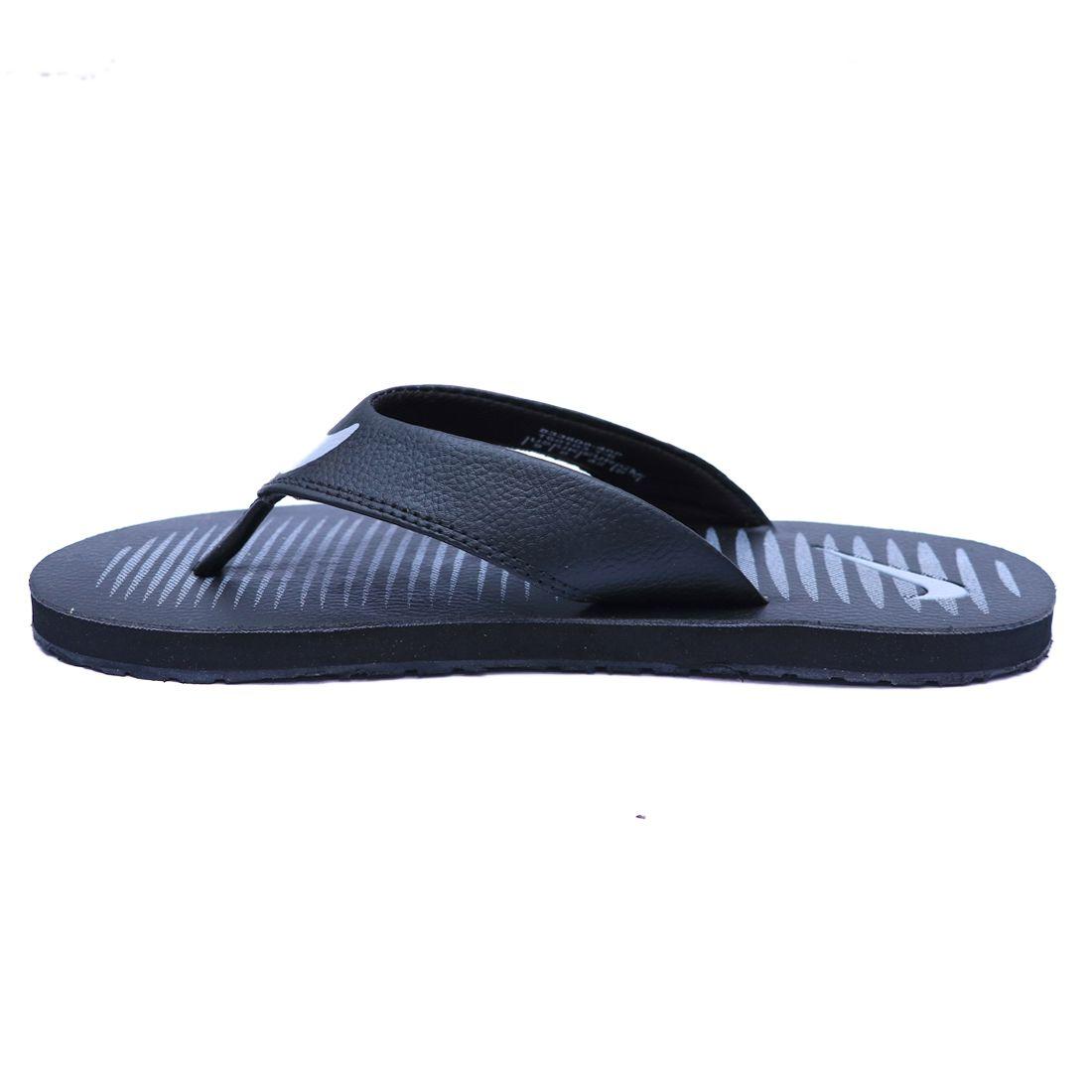 ... Nike CHROMA THONG 5 black Gray Thong Flip Flop ...