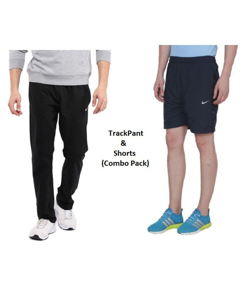Nike Men/Boy's Lycra trackPant and Shorts Combo pack for Running