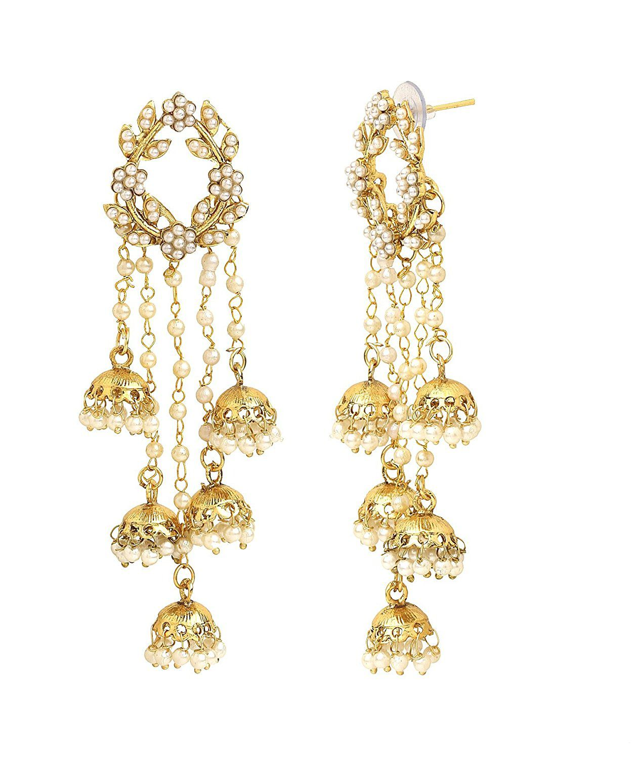 Sanjog Fashion Jewellery Gold Plated Light Weight Party Wear Pearl