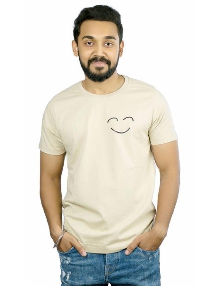 Terimarzi.com Beige Round T-Shirt