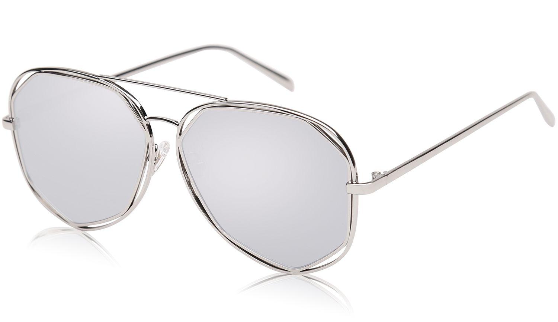 bc3ec34cf vedu enterprise Silver Aviator Sunglasses ( silveraviator1 ) - Buy vedu  enterprise Silver Aviator Sunglasses ( silveraviator1 ) Online at Low Price  - ...