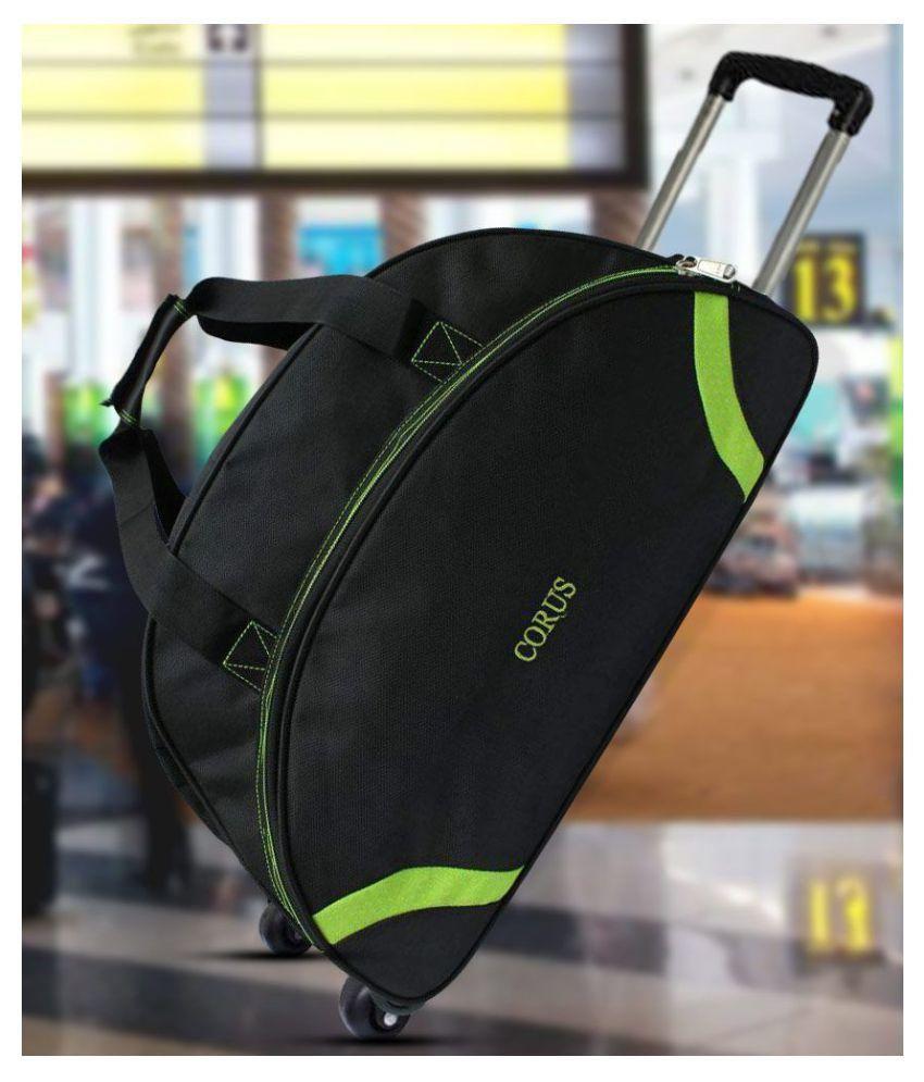 Corus Black Solid Duffle Bag