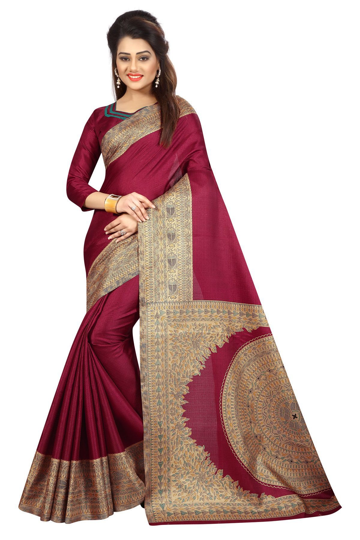 Samaya Red Silk Saree