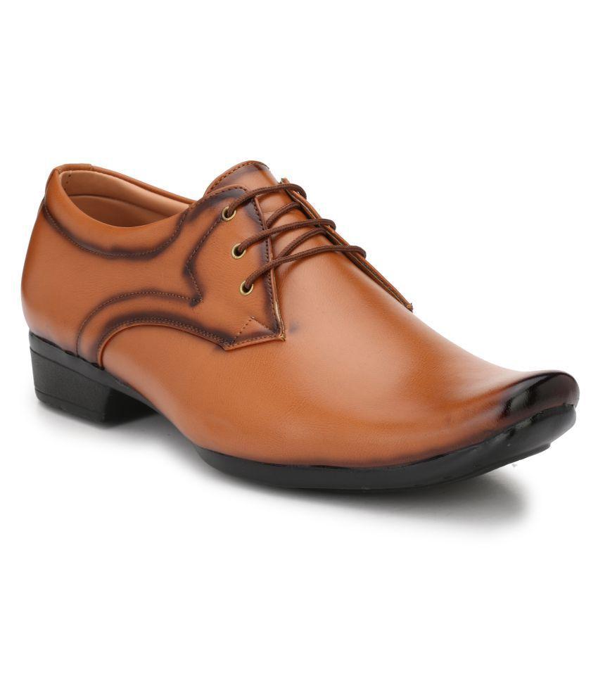Trendigo Party Artificial Leather Tan Formal Shoes