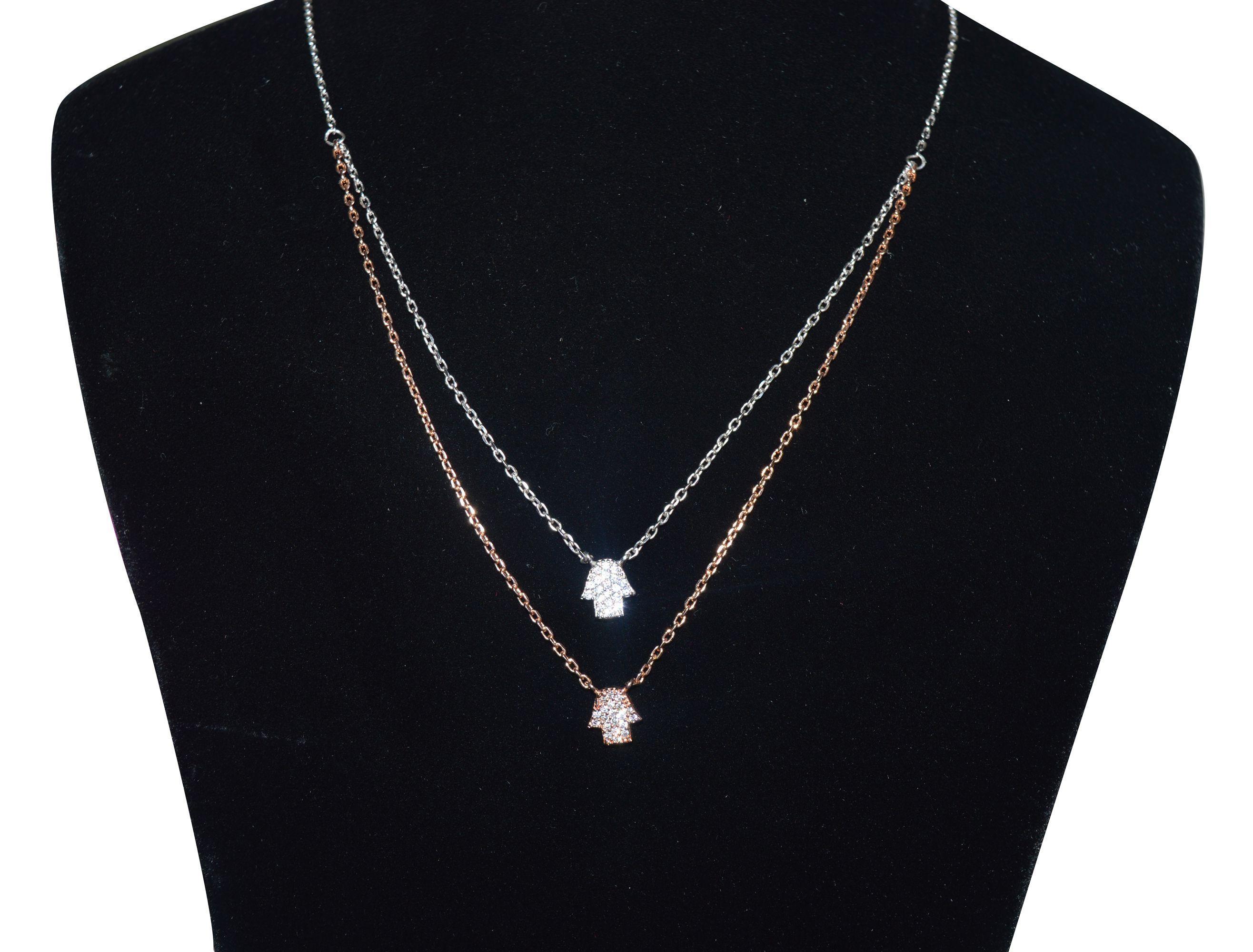 Kataria Jewellers 92.5 BIS Hallmarked Silver Necklace Set