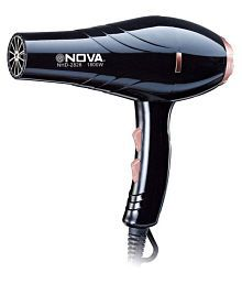 NOVA Silky Professional NHD-2828 hot and cold 1800 w Hair Dryer (Black)